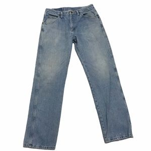 Wrangler Straight Leg Mens Jeans Light Wash 33x32